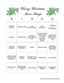 Cheesy Holiday / Christmas Movie Bingo