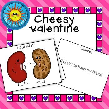 """Cheesy Valentine- """"Bean my Friend"""""""