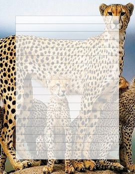 Cheeta Writing Template