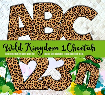 Cheetah Alphabet – Full Set of Characters — Latin, Numbers, Punctuation–300 DPI