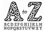 Cheetah Alphabet SVG, Cheetah Letters SVG Cut Files, Letters, Alphabet Clipart.