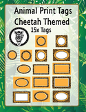 Cheetah Animal print labels