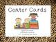 Cheetah Bundled Math & Literacy Center Cards