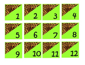 Cheetah Calendar Set