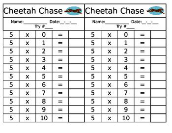 Cheetah Chase- Mastering Math Facts