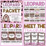 Leopard Classroom Decor and Materials (Mini Bundle)