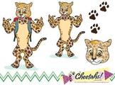 Cheetah Clip Art Set