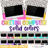 Cheetah Computer Square Mockups Solid Colors Perfect for Teacher Sellers