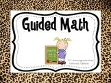 Cheetah Guided Math Center Signs