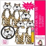 Cheetah / Jaguar Mascot clip art - Mini - by Melonheadz Clipart