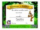 Cheetah/Leopard/Jaguar Award Certificates -Standard