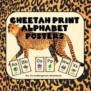 Cheetah Print Alphabet Posters