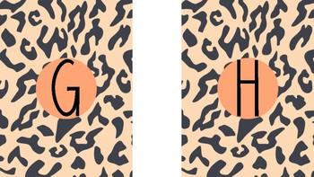 Cheetah Print Alphabet and Numbers 1-100