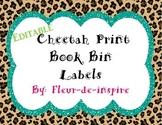 Cheetah Print Book Bin Labels-Animal Print Labels