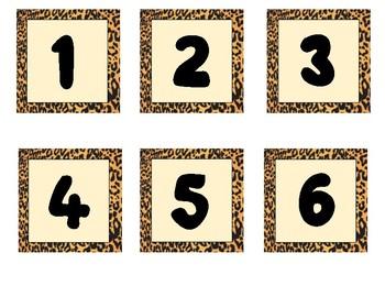 Cheetah Print Calendar Set