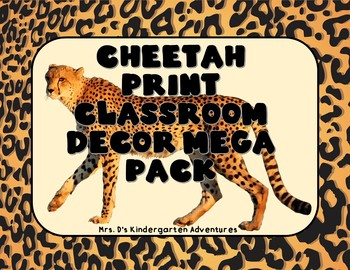 Cheetah Print Classroom Decor Mega Pack