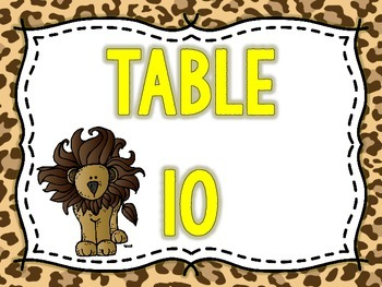 Cheetah Print Classroom Theme Pack