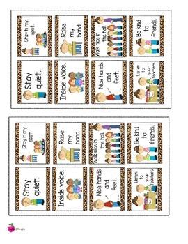Cheetah Print Themed Rules