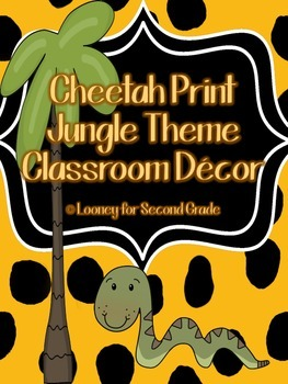 Cheetah Print/Jungle Theme Classroom Decor Pack