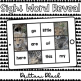 Cheetah Sight Word Reveal Set 3   Kindergarten Boom Cards