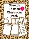 Cheetah Theme Classroom Decor Pack (Editable!)
