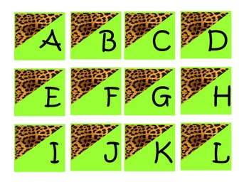 Cheetah Word Wall Letters