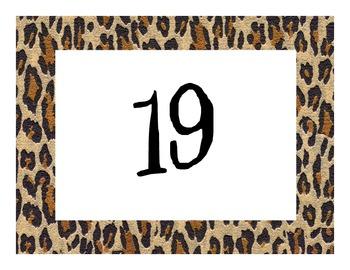 Cheetah/Jungle/Safari Calendar Numbers