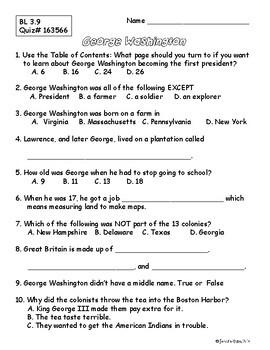 Cheetahs and George Washington Informational Book Club Packets