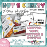 Cheetos, Takis, Funyuns & Doritos Valentine's Day snack labels (Cheesy and Hot)