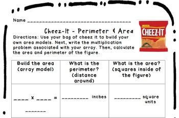 Cheez It - Area & Perimeter