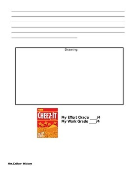 Cheez It Area and Perimeter Activity