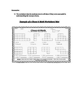 Cheez-It Math Activity