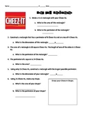 Cheez-It Perimeter & Area Activity Sheet