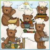 Chef Bears - CU Colored Clip Art
