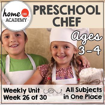Chef Community Helper - Week 26 Age 4 Preschool Homeschool