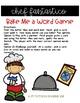Chef Fantastico Bake Me a Word Game