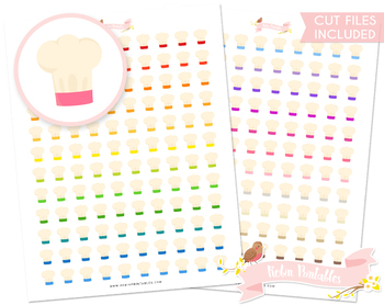 Chef Hat Printable Planner Stickers