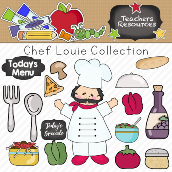 Chef Louie Clipart Collection || Commercial Use Allowed