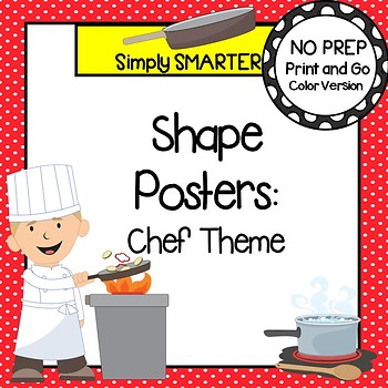 Chef Shape Posters