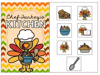 Chef Turkey's Kitchen - Interactive Book FREEBIE