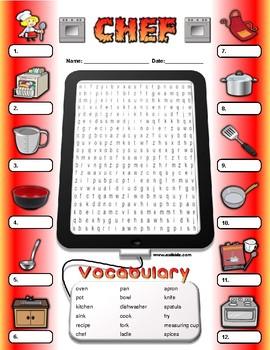 Chef Vocabulary / Identify Activity