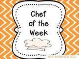 Chef of the Week Bulletin Board Set
