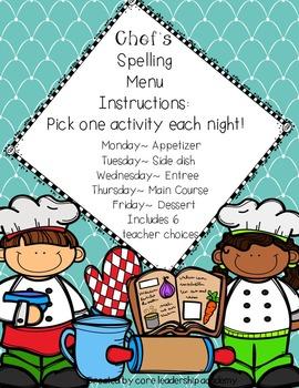 ~Chef's Choice Spelling Menu~