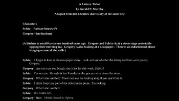 Chekhov - A Lottery Ticket One Act Play Powerpoint