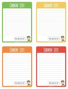 Chekov List (a FREE series of geeky to-do lists)