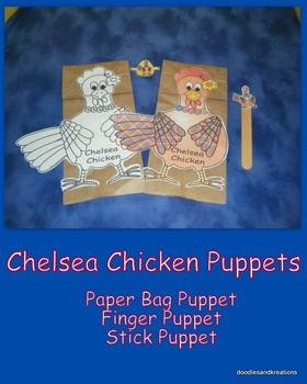 Chelsea Chicken Puppet Set
