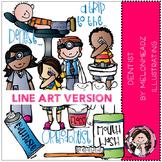 Dentist clip art - LINE ART- by Melonheadz