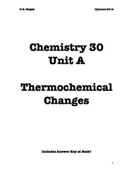 Chem 30 Unit A Thermochemistry Workbook