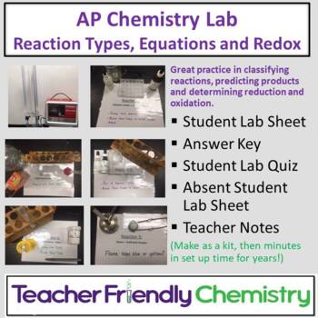 AP Chemistry Lab: Rxn Type, Class, Driving Force, Net Ionc Eq and Redox