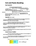 Chemical Bond cut and paste activity